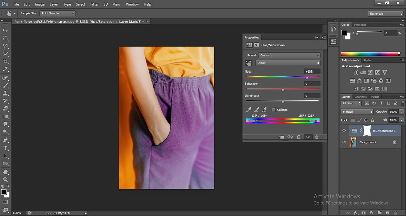 Change Color in Photoshop 1-8