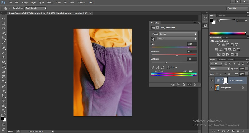 Change Color in Photoshop 1-9