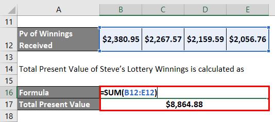 Present Value -3.3