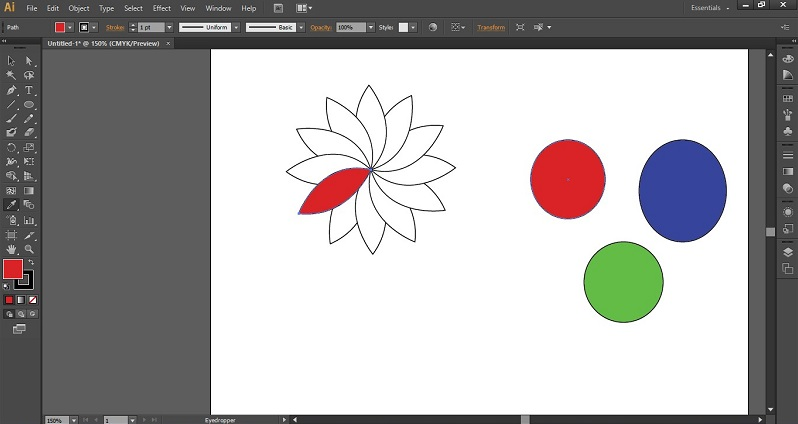 Eyedropper Tool in Illustrator 1-10