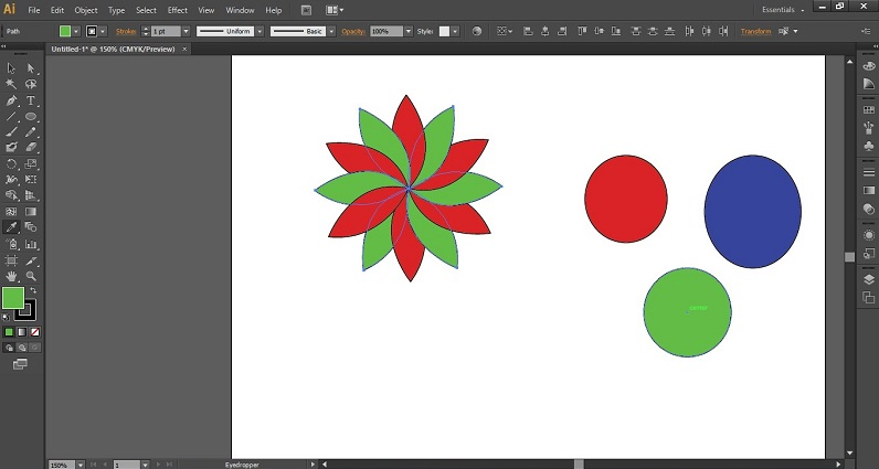 Eyedropper Tool in Illustrator 1-14