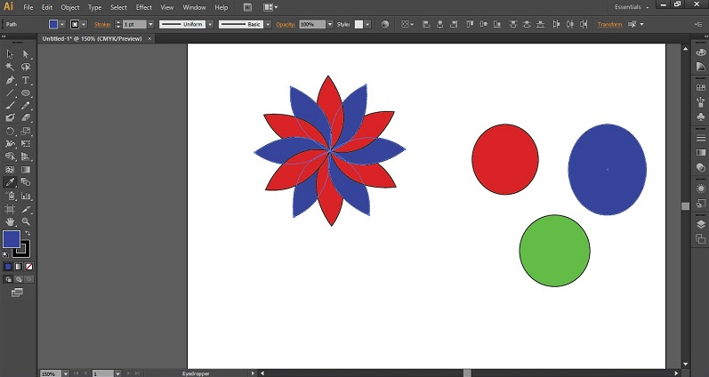 Eyedropper Tool in Illustrator 1-15