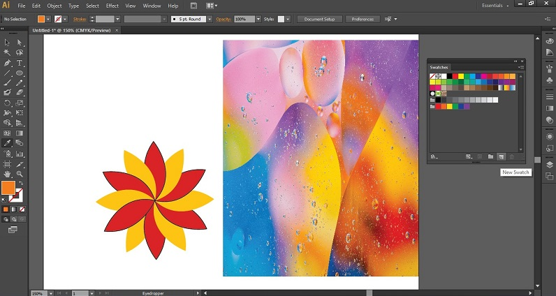 Eyedropper Tool in Illustrator 1-22