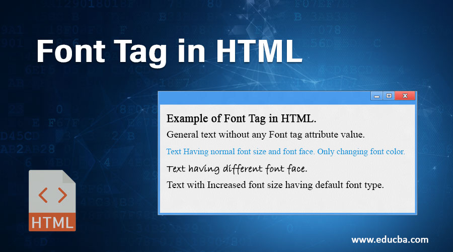 Font Tag in HTML