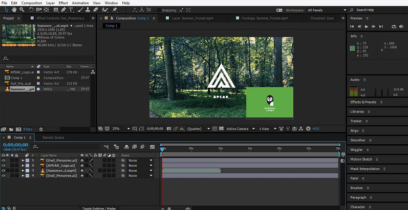 Group Layers in After Effects 1-10
