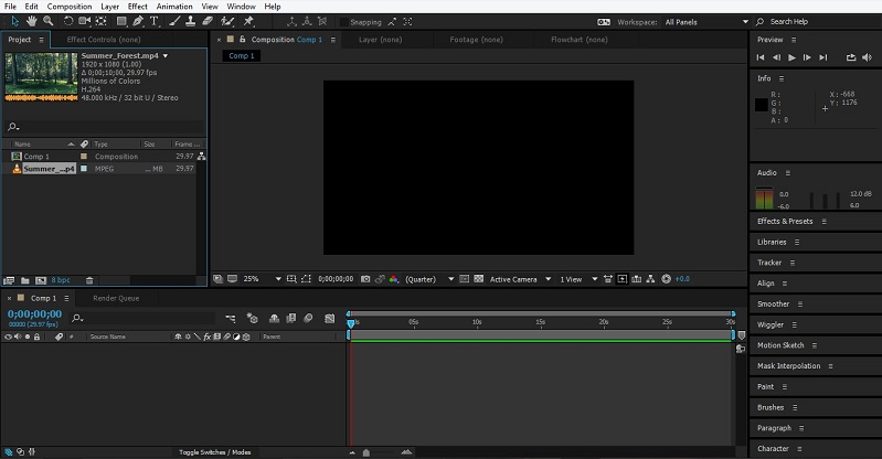 Group Layers in After Effects 1-6