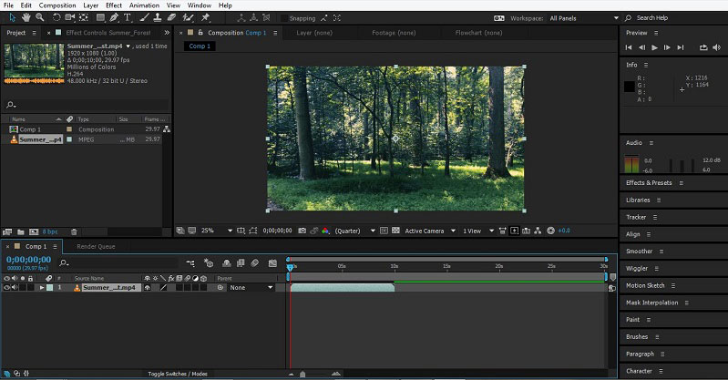 Group Layers in After Effects 1-7