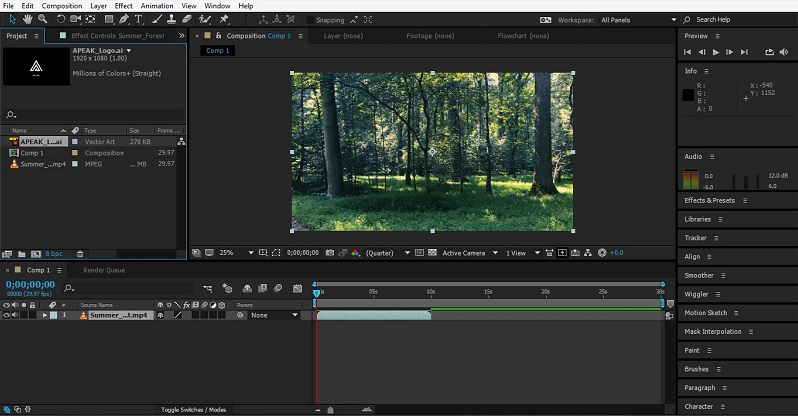 Group Layers in After Effects 1-8