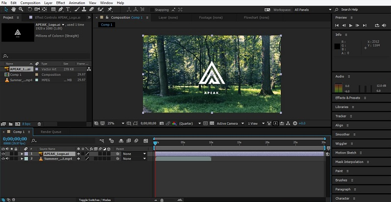 Group Layers in After Effects 1-9