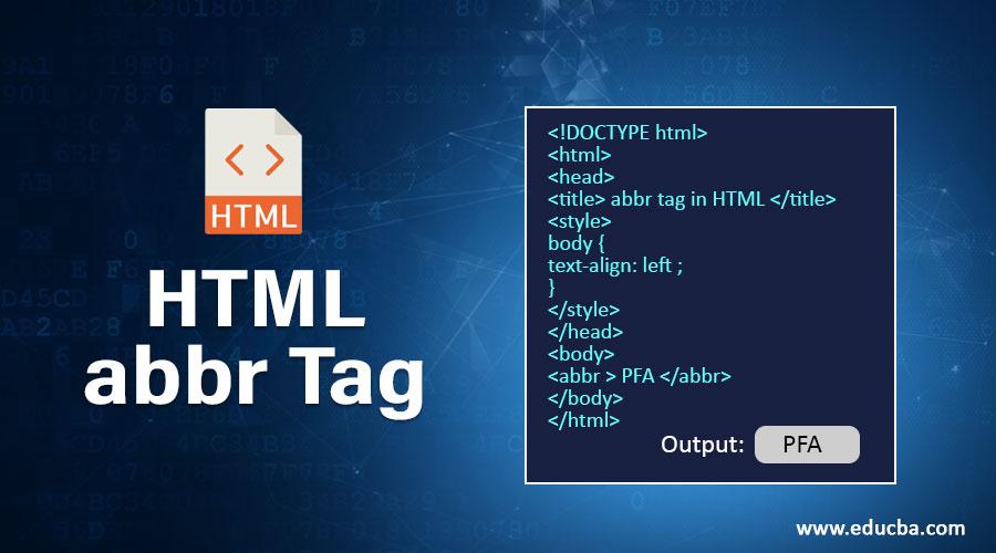 HTML abbr Tag
