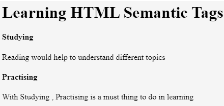 HTML5 Semantic Elements-1.7