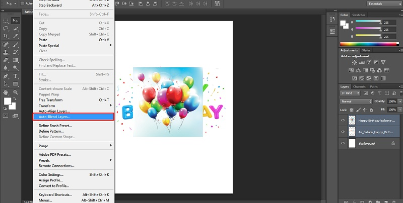 How to Blend Images in Photoshop - 1.6