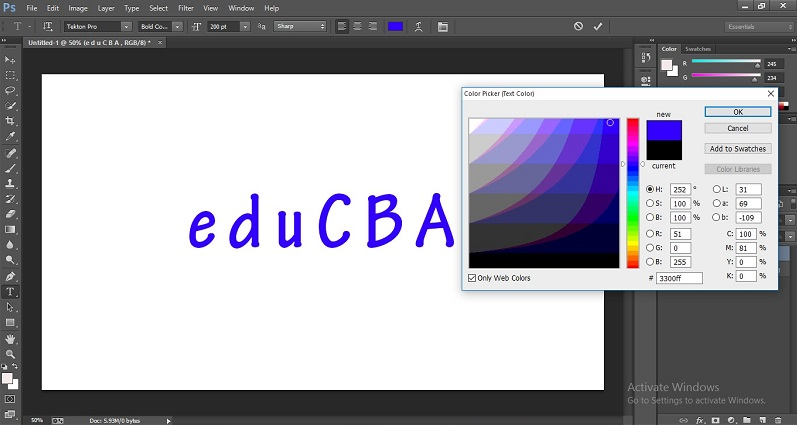 How to Change Text Color in Photoshop 1-10