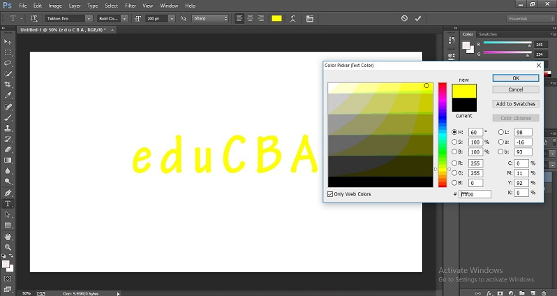 How to Change Text Color in Photoshop 1-11
