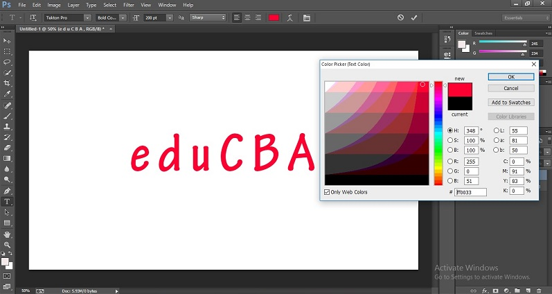 How to Change Text Color in Photoshop 1-12