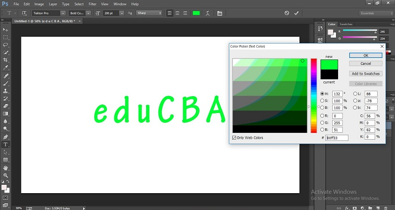 How to Change Text Color in Photoshop 1-13