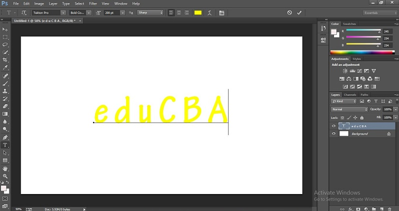 How to Change Text Color in Photoshop 1-14