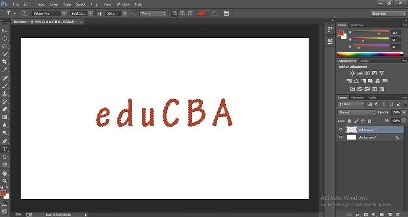 How to Change Text Color in Photoshop 1-19