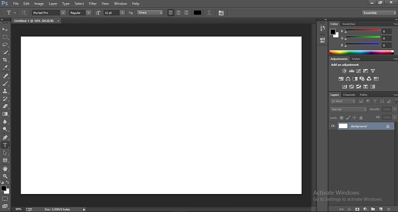 How to Change Text Color in Photoshop 1-2