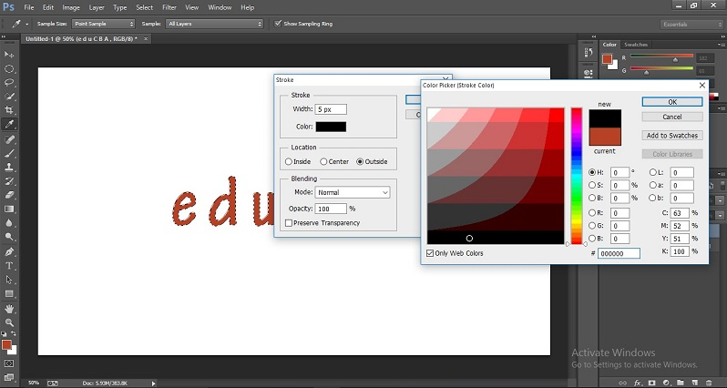 How to Change Text Color in Photoshop 1-22
