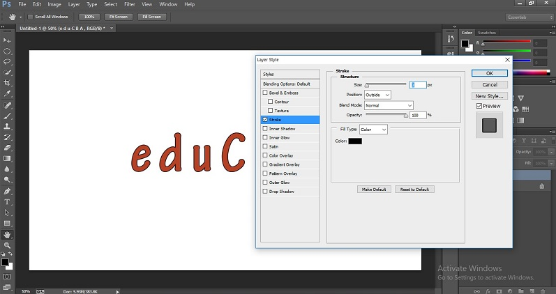 How to Change Text Color in Photoshop 1-26