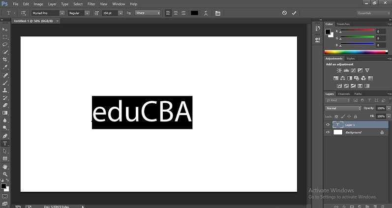 How to Change Text Color in Photoshop 1-3