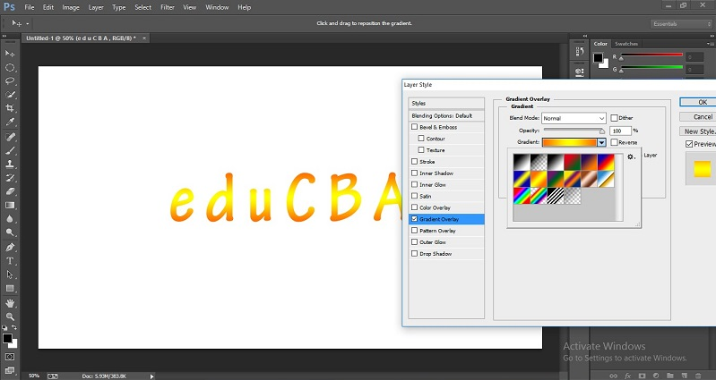 How to Change Text Color in Photoshop 1-34