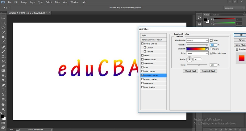 How to Change Text Color in Photoshop 1-35