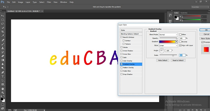 How to Change Text Color in Photoshop 1-37
