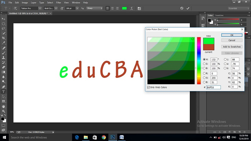 How to Change Text Color in Photoshop 1-39