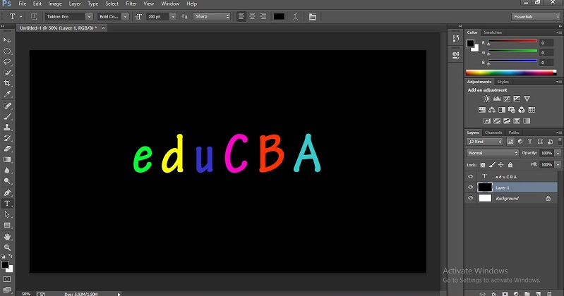 How to Change Text Color in Photoshop 1-40