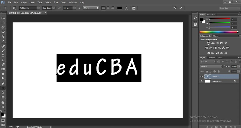 How to Change Text Color in Photoshop 1-5