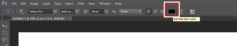 How to Change Text Color in Photoshop 1-7