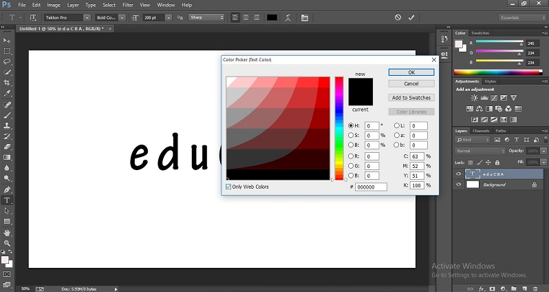 How to Change Text Color in Photoshop 1-9