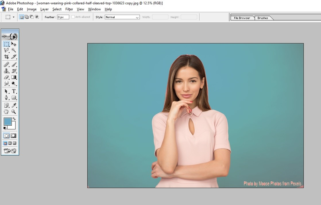 How to Fill Color in Photoshop 10