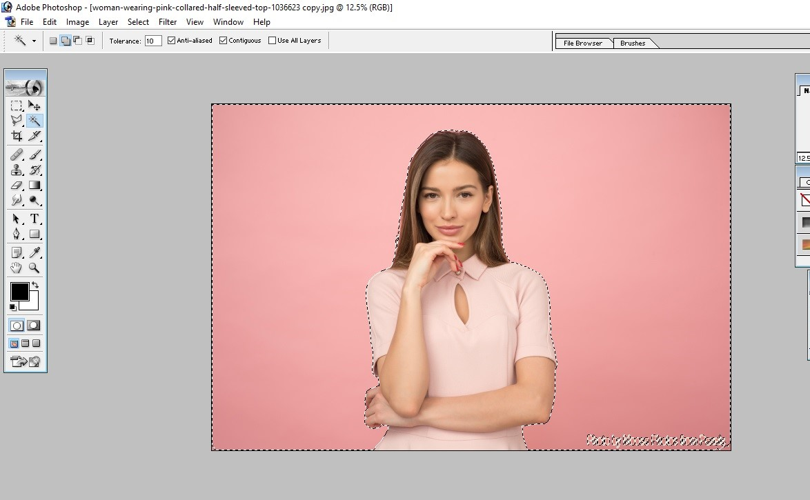 How to Fill Color in Photoshop 5