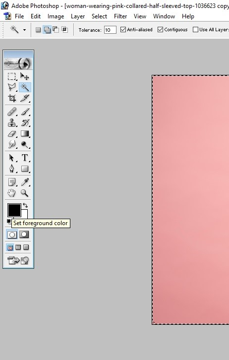 How to Fill Color in Photoshop 6
