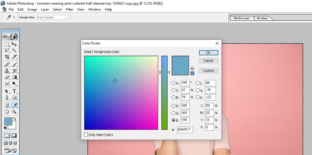 How to Fill Color in Photoshop 7