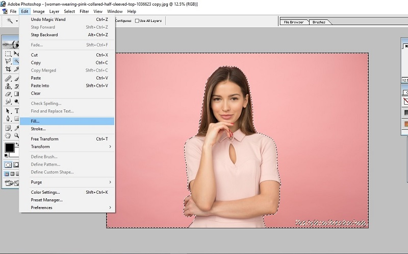 How to Fill Color in Photoshop 8
