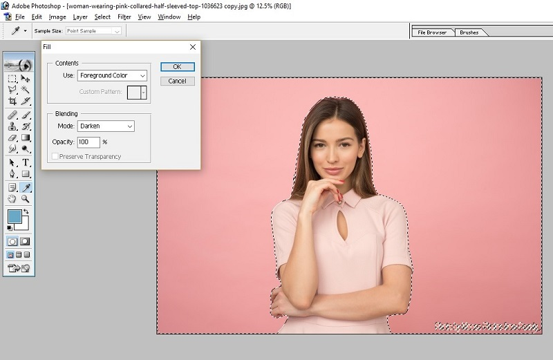 How to Fill Color in Photoshop9