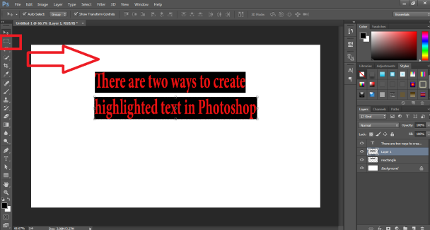 How to Highlight Text in Photoshop -5