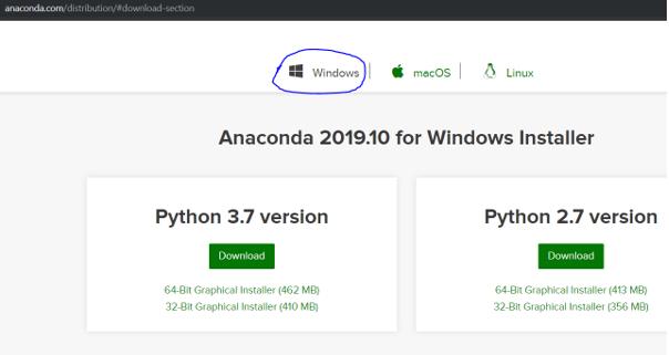 Install Anaconda Python eg2