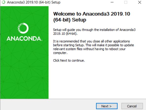 Install Anaconda Python eg5
