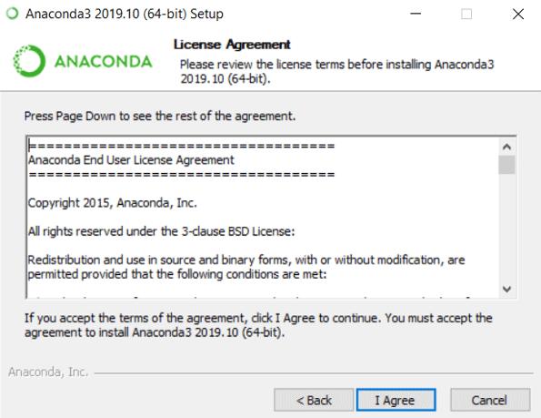 Install Anaconda Python eg6