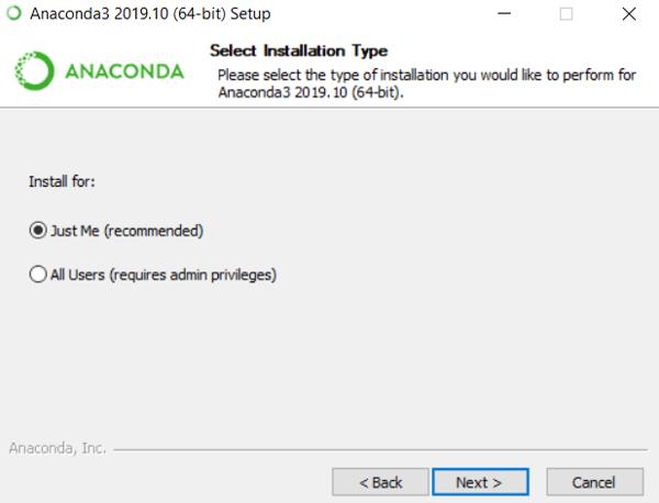 Install Anaconda Python eg7