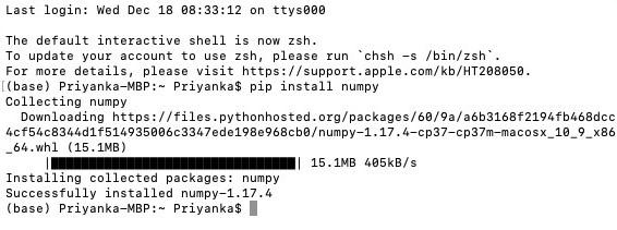 Install NumPy 1-2
