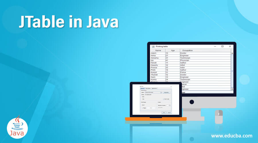 JTable in Java