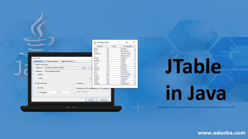 JTable in Java