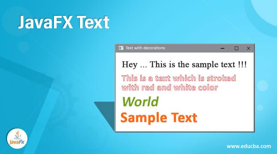 JavaFX Text
