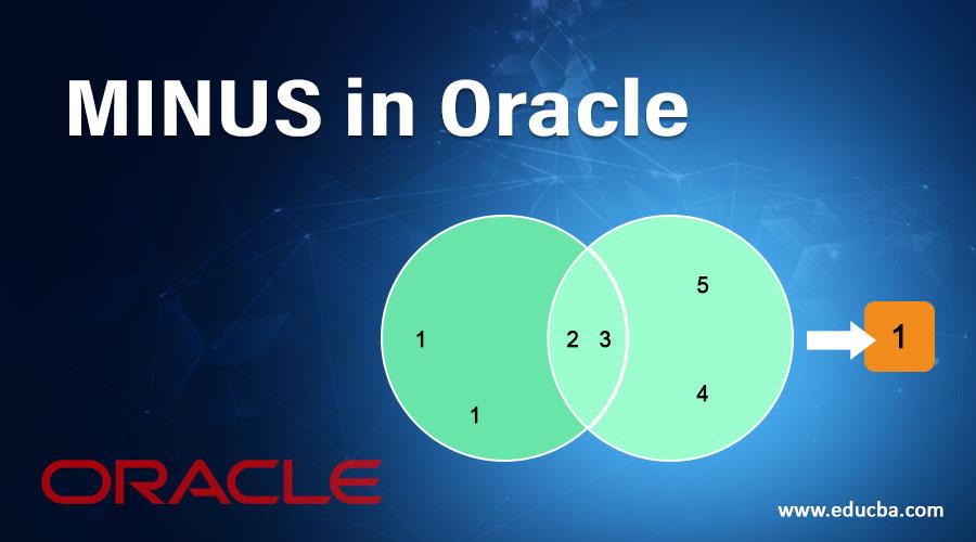 MINUS in Oracle